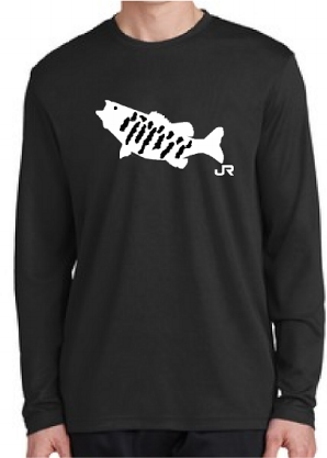 Big Bass Heaven mens Smallmouth Bass performance shirt