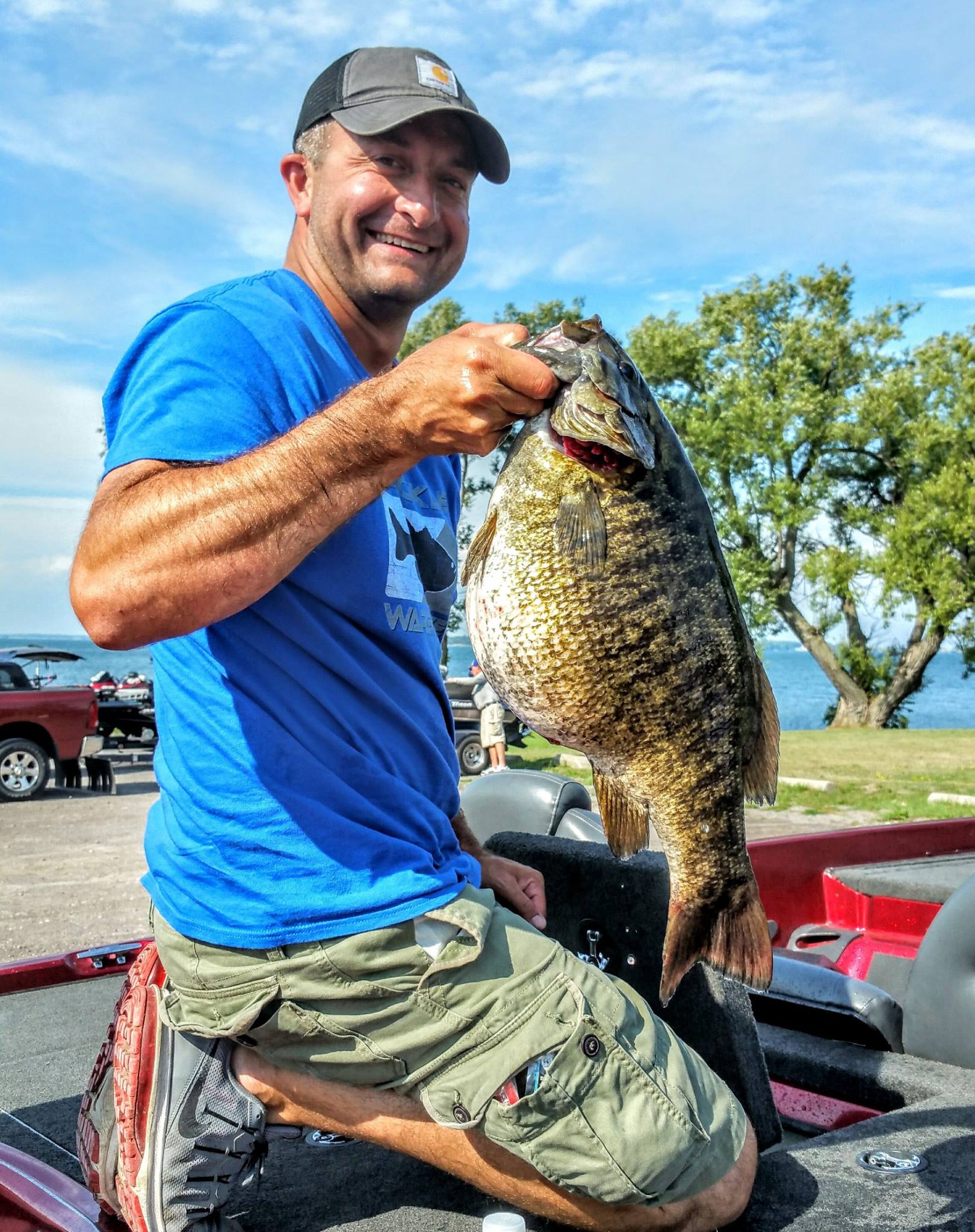 New state record smallmouth bass in new york for Ibobber ice fishing
