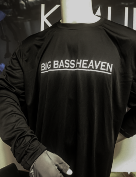 Big Bass Heaven Copperplate performance shirt (clean logo)
