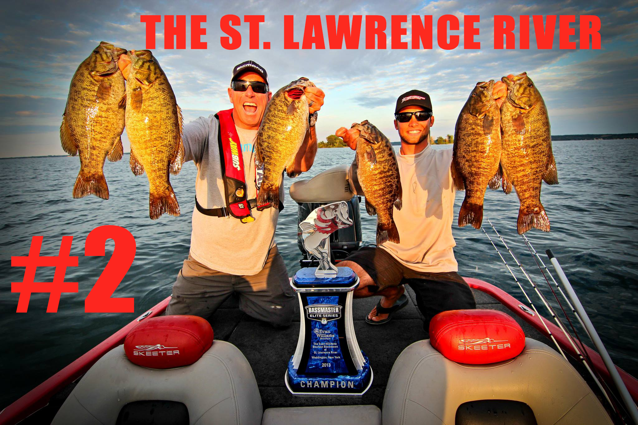 summer bass fishing, dave mercer, brandon palaniuk, smallmouth bass, st. lawrence river, clayton ny, ogdensburg, bass elite series, facts of fishing, bp fishing